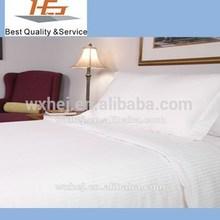 100 cotton Sateen Stripe bed sheet white stripe duvet cover sets