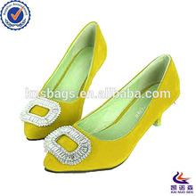 Colorful design ladies fancy shoes high heel