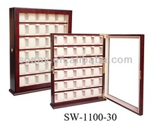 Wooden watch collectors display cases cabinet