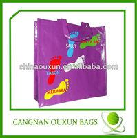 printing reusable pp woven shopping bags with logo