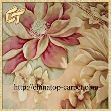 high quality flower floor wool rug