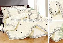 6pcs,9pcs,12pcs poly/cotton T/C embroidery lace comforter sets