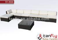wholesale indoor safari l shaped wicker/rattan sofa sets