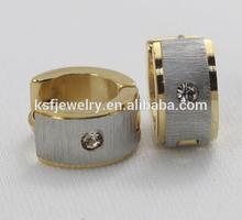 Custom Stainlee Steel Huggie Earring Gold Plated earrings Wholesale