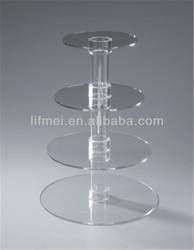 wholesale customize around crystal wedding cupcake stand pastry display rack