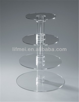 wholesale customize around crystal wedding cupcake stand pastry display rack