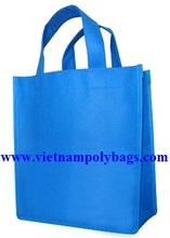 Blue color pp non woven shopping bag
