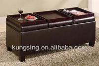 stool ottoman storage bench with tray