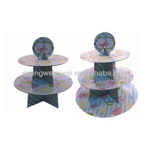 Easter decorative paper cake stand,disposable cup cake decoration floating stand,Easter egg printed hanging cake stand