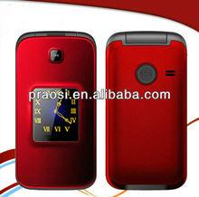 3G elderly phone camera dual sim flip phone/sos button support 2G/3G bluetooth MP3 FM SOS big keypad