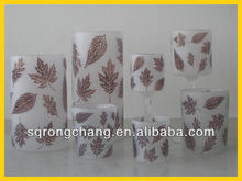 full of tree leaves glass candle holders tealight cups for lamps holders