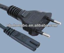 2 pin Brazil plug to C7 AC power cord/Brazil UC srandard 2-pin power cord