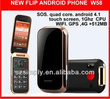 "3g 3.2"" new dual core sos mobile phones W58"