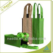 Eco friendly PP non woven single bottles wine bag