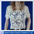Fabricant de la chine populaire 2014 coton brodé dentelle soluble dans l'eau à main des dames blouse crochet
