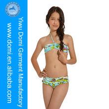 Domi sexy kids bikini /kids model girls in bikini/wholesale kids swimwear