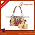 2014 New Concealed Carry purse handbag, Embroidered &Weaved Satchel & Wristlet Wallet