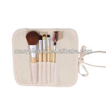 5pcs bamboo handle make up brush set
