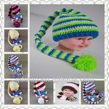 hand knitting hat elf long tail hat caps crochet patterns