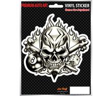 SKULL 8 BALL DICE AND BONES - Vinyl car sticker