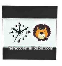 diy clocks for kids , lion quartz table clock /wall clock kids