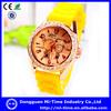 New 2014 trends quartz diamond fashion silicon wristband watch