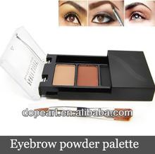 3 color eye brow and eyeliner cake kit makeup eyebrow powder palette with eyebrow brush
