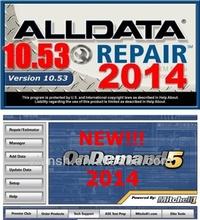 Newest Auto Repair Software 2014 ALLDATA 10.53+2014 Mitchell On Demand in 750GB HDD