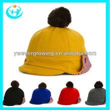 hot sale winter warm fuzzy ball ear flaps wool hat