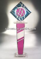 Acrylic Art Pedestal Display, Lucite Pedestal, Perspex Table Display
