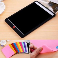 solid color soft rubber silicon case for ipad air,for ipad air silicon case