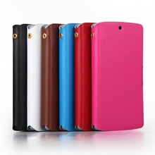 factory low price high quality slim cover leather phone case for LG google nexus 5