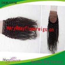 Jiaozhou hair afro kinky curl silk base closure 5a top quality 4x4/3.5x4 large in stock virgin brazilian hair