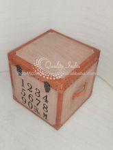 Small Brown Ethnic Mettalic Box