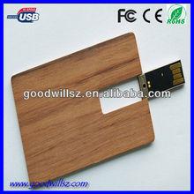2015wooden credit card usb flash drive 2.0,usb business card pen drive,bulk cheap