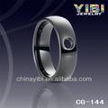 8mm chanfrado- borda preta anel de cerâmica de animais do sexo com mulheres de cerâmica de prata anel de diamante