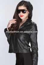 black faux leather hooded wholesale denim jackets,denim jacket shop,denim jackets for women