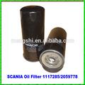 china hizo de automóviles y piezas de repuesto de auto del filtro de aceite para scania 1117285 2059778