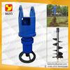 excavator attachment hydraulic earth drill used in garden