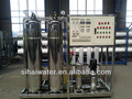 Dos etapas del sistema ro mini planta de agua mineral, producción de agua mineral de la máquina
