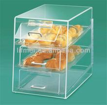 2014 pop customize acrylic cake display shelf with drawer