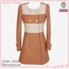women's fairy/modest dress style mixed color long parka
