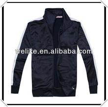 blue soccer jacket full zip tracksuit football uniform leisure sport cost