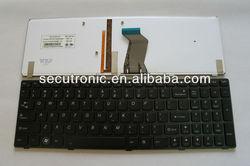 US backlit Laptop keyboard for Lenovo Ideapad Y580 laptop keyboard