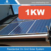 Flat roof solar power system 1KW sloped-Roof Mounted photovoltaic system on-grid