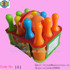 10 pieces kids plastic bowling toy