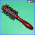 Hb-050 cabo de madeira Salon & rolamento casa escova de cabelo, Cabelo pentes e escovas