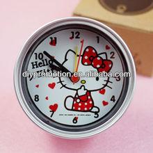 Hello kitty pretty alarm clock omamental clock for advertising gift