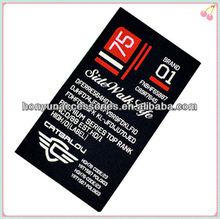 Guangzhou custom garment title printed care label fabric