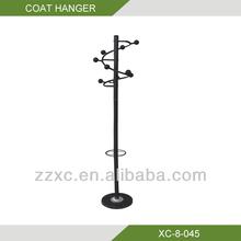 Metal antique standing coat rack hanger XC-8-045